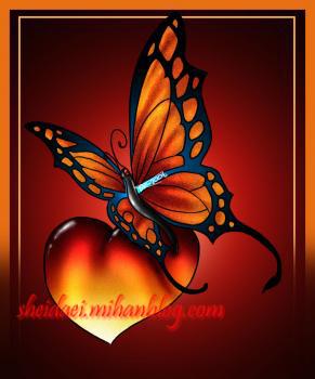 طراحی پروانه عشق